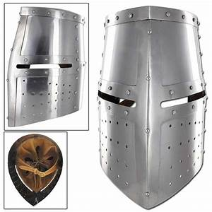 Middle Ages Great Helm Iron Cross Armor Helmet 5H3-IN2252 ...