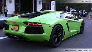 GREEN Lamborghini Aventador LP 700-4 || ORANGE Lamborghini ...
