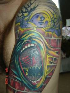Pink Floyd Screaming Face Tattoo