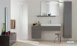 Meuble Salle De Bain Gris : meubles salle de bains gris rouge blanc allia lovely espace aubade ~ Teatrodelosmanantiales.com Idées de Décoration