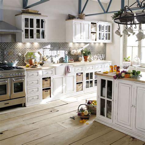cuisine maisons du monde cucina maison du monde con supporto a sospensione arredamento shabby