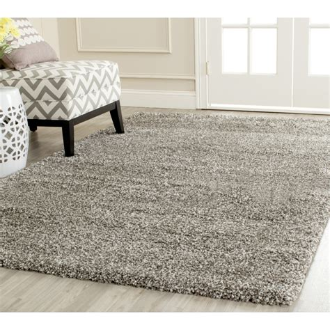 grey and area rugs safavieh power loomed grey plush shag area rugs sg180