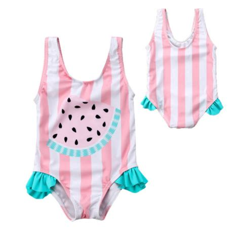 newborn kids baby girls watermelon swimsuit swimwear