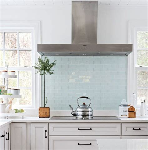 pale blue kitchen tiles modern backsplash ideas eatwell101 4082
