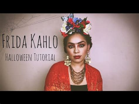 Frida Kahlo Halloween Tutorial Makeup Hair Costume
