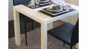 Esstisch porto k chentisch tisch in wei hochglanz 80x80 cm for Tisch weiß hochglanz 80x80