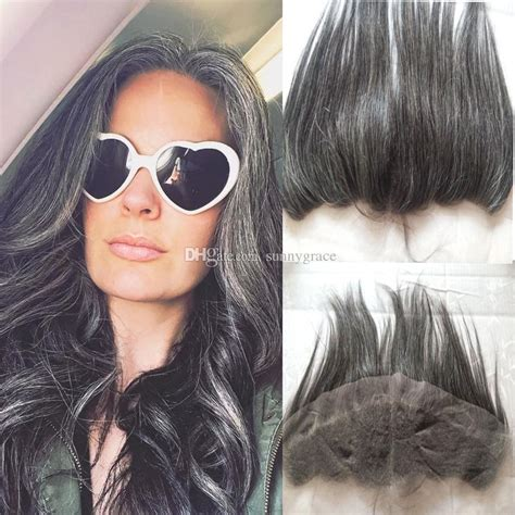 gray hair styles hairstyles mix grey lace frontal closure 13 4 black gray ear to ear 1430
