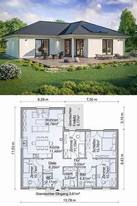 Haus Bauen Ideen Grundriss : bungalow haus modern grundriss mit walmdach architektur ~ Orissabook.com Haus und Dekorationen