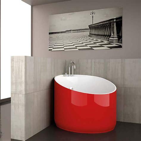 modern  bathtub red