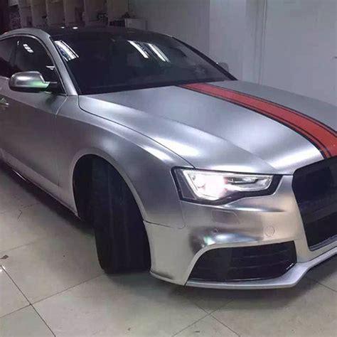 car wrapping folie 3d chrom matt metallic racing silver mit luftkan 228 len car