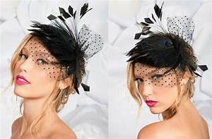 Haute Couture Black Bridal Headpiece Wedding Hair