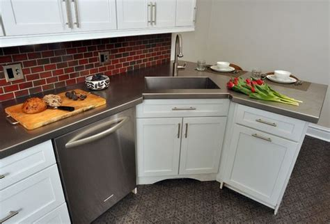 stainless steel corner sinks for kitchens is a corner kitchen sink right for you solving the dilemma 9386