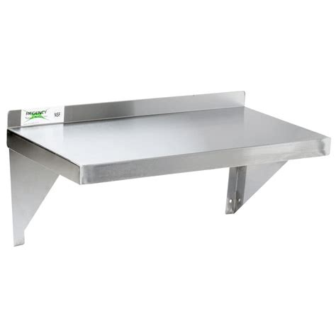 stainless steel solid kitchen shelving regency 18 gauge stainless steel 12 quot x 24 quot solid wall shelf