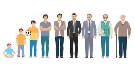 All Age Generation Men Set Download Free Vectors