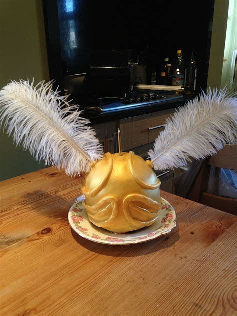 golden snitch cake harry potter  birthday party