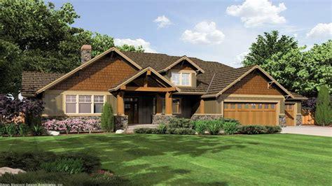 Single Story Craftsman Style House Plans Single Story