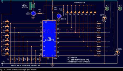 quiz buzzer circuit diary