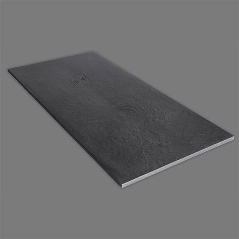truestone rectangular shower tray slate black buy