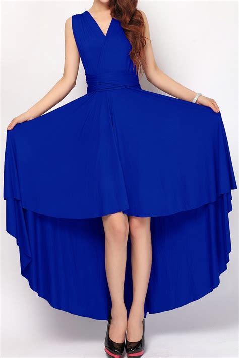 Light Seafoam Green by Royal Blue High Low Bridesmaid Dresses Infinity Dress