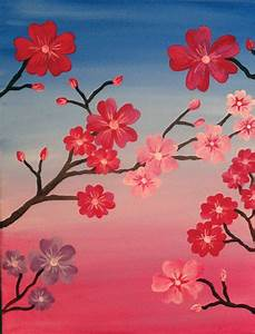 Simple Flower Paintings On Canvas | www.imgkid.com - The ...