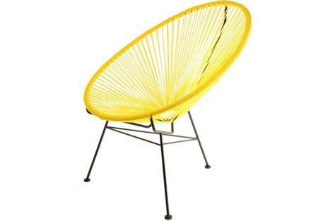 chaise acapulco pas cher fauteuil la chaise longue jaune acapulco fauteuil design pas cher