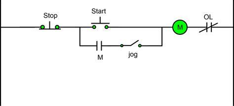 start stop start control wiring diagram   stops