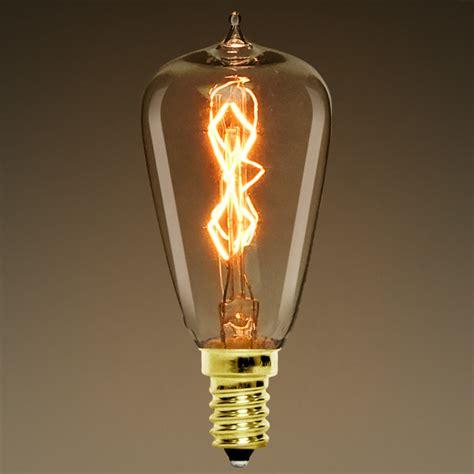 st38 candelabra base vintage antique light bulb
