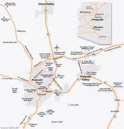 Map of Arizona Prescott AZ