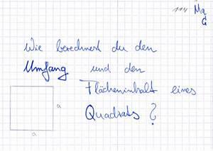 Ableitungen Berechnen : umfang und fl cheninhalt eines quadrats berechnen lernwerk tv ~ Themetempest.com Abrechnung
