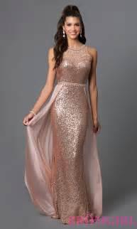 Rose Gold Long Prom Dresses