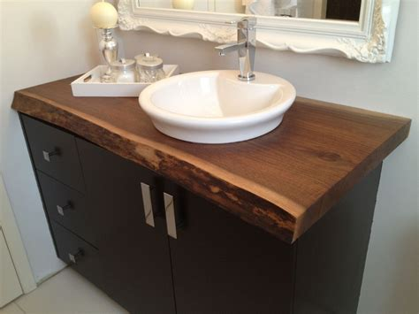 small bathroom countertop ideas made live edge black walnut bathroom countertop by