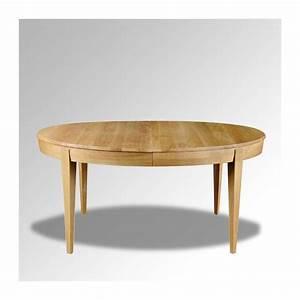 table en bois ovale moderne avec allonges 4 pieds With table moderne en bois