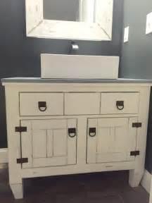 white farmhouse bathroom vanity featuring andrew