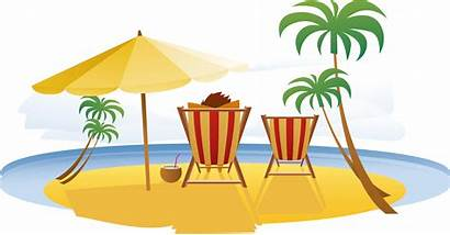 Clipart Beach Vacation Travel Resort Relaxing Seaside