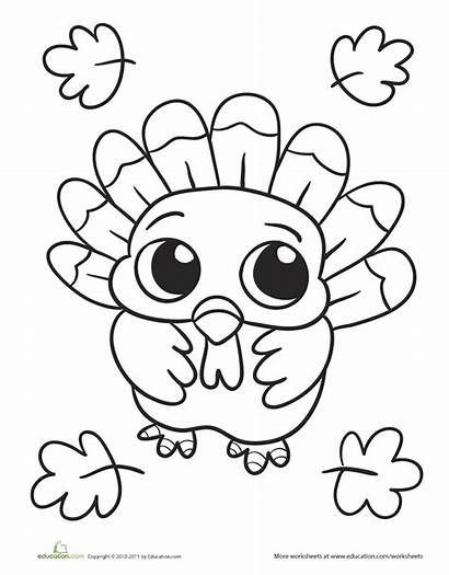 Coloring Fall Pages Thanksgiving Favorite Turkey Activities