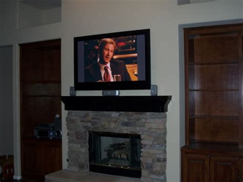 Tv Above Gas Fireplace  Fireplaces. Modern Ottoman. Grey Velvet Dining Chairs. Outdoor Window Trim. Modern Bookcase. Pie Safe. Bathroom Vanity Bench. Accent Console Cabinet. Lightings