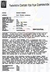 read the script coverage for boogie nights With script coverage template