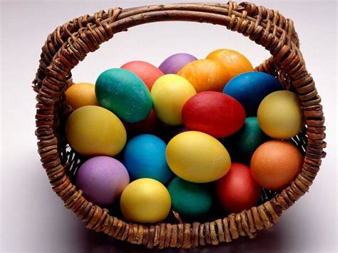 Beautiful Basket Of Easter Eggs
