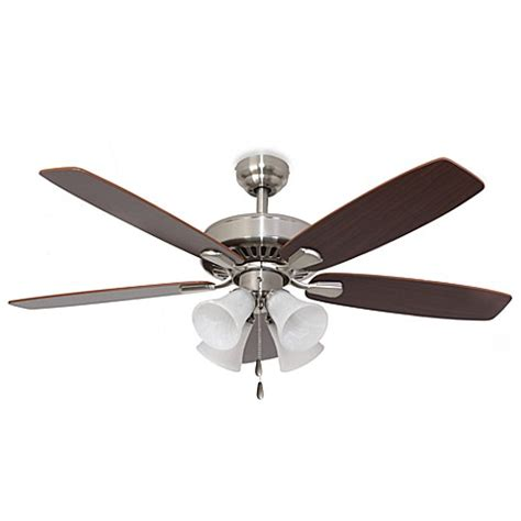 52 inch ceiling fan 52 inch barclay 4 light brushed nickel ceiling fan bed