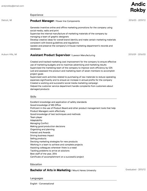 Cv templates find the perfect cv template. Product Manager Resume Samples | All Experience Levels | Resume.com | Resume.com