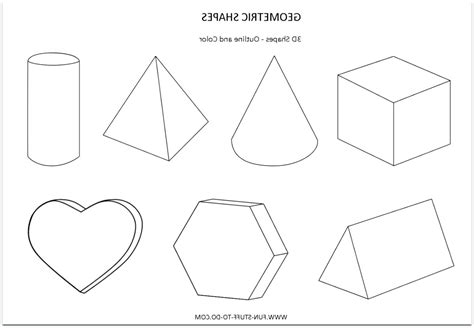 dimensional shapes drawing  getdrawingscom