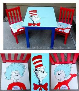 hometalk dr seuss table chairs hand painted kids With kitchen cabinets lowes with dr seuss canvas wall art