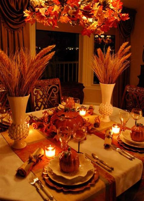 thanksgiving table decorations place settings