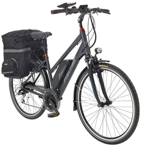 e bike trekking fischer fahrraeder e bike trekking damen 187 1606 171 28 zoll 24 heckmotor 504 wh