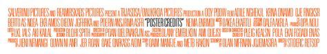 poster credits template poster credits sles poster credits
