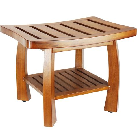 teak wood shower bench  tub caddies  accessories