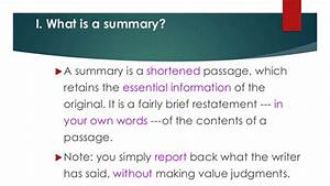 Summary writing tips and techniques