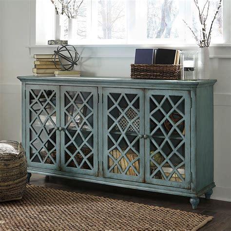 mirimyn antique teal accent cabinet   doors accent