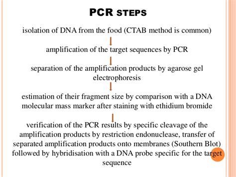 molecular detection  food borne pathogens