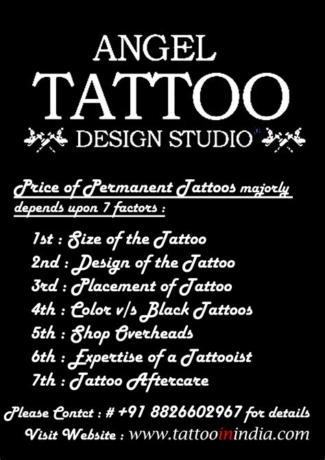 cost  permanent tattoo  black color price